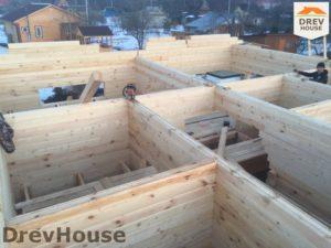 Строительство дома из бруса в деревне Володькино   фаза 4
