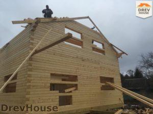Строительство дома из бруса в деревне Володькино   фаза 5