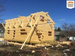 Строительство дома из бруса в деревне Володькино   фаза 7