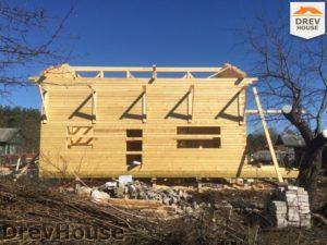 Строительство дома из бруса в деревне Володькино   фаза 8