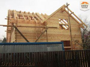 Строительство дома из бруса в поселке Ганусово   фаза 10