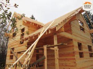 Строительство дома из бруса в поселке Ганусово   фаза 11