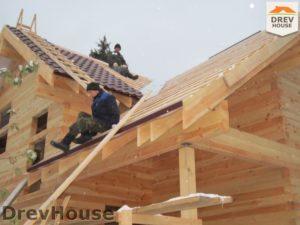 Строительство дома из бруса в поселке Ганусово   фаза 12