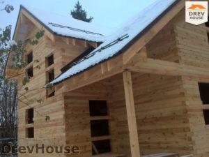 Строительство дома из бруса в поселке Ганусово   фаза 13