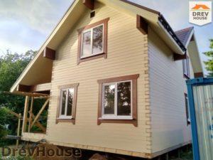 Строительство дома из бруса в поселке Ганусово   фаза 16