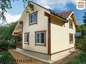 Строительство дома из бруса в поселке Ганусово   фаза 17