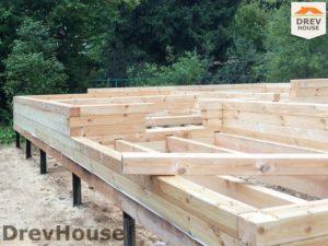 Строительство дома из бруса в поселке Ганусово   фаза 2