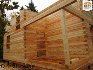 Строительство дома из бруса в поселке Ганусово   фаза 4