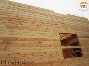 Строительство дома из бруса в поселке Ганусово   фаза 6