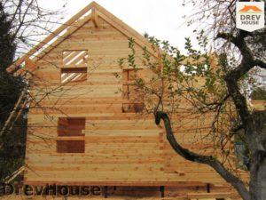 Строительство дома из бруса в поселке Ганусово   фаза 7