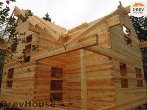 Строительство дома из бруса в поселке Ганусово   фаза 9
