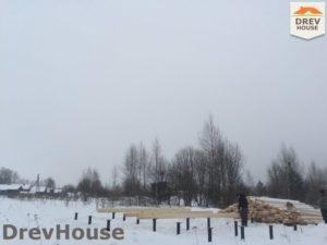Строительство дома из бруса в поселке Морозовка   фаза 1