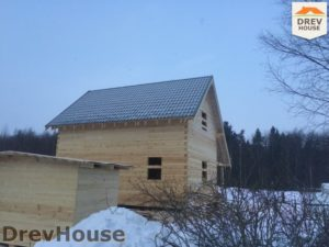 Строительство дома из бруса в поселке Морозовка   фаза 10