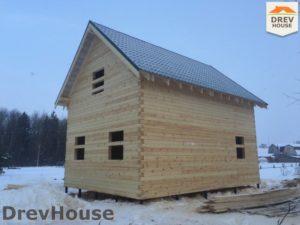 Строительство дома из бруса в поселке Морозовка   фаза 11