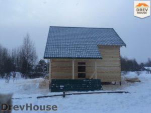 Строительство дома из бруса в поселке Морозовка   фаза 12