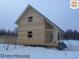 Строительство дома из бруса в поселке Морозовка   фаза 13