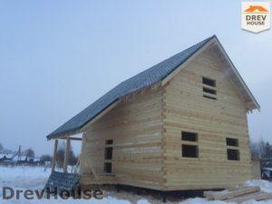 Строительство дома из бруса в поселке Морозовка   фаза 14