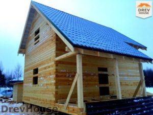 Строительство дома из бруса в поселке Морозовка   фаза 15