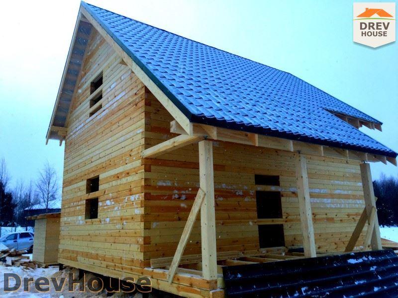 Фоторепортаж строительства дома из бруса в пос. Морозовка, Коломенский р-н., МО