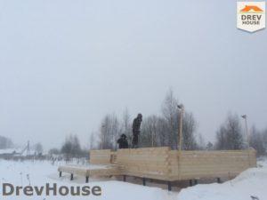 Строительство дома из бруса в поселке Морозовка   фаза 2