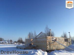 Строительство дома из бруса в поселке Морозовка   фаза 3