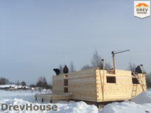 Строительство дома из бруса в поселке Морозовка   фаза 4