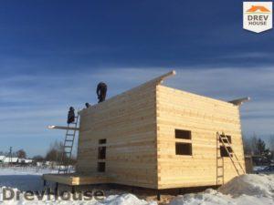 Строительство дома из бруса в поселке Морозовка   фаза 5