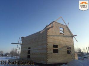 Строительство дома из бруса в поселке Морозовка   фаза 6