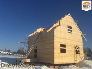 Строительство дома из бруса в поселке Морозовка   фаза 7