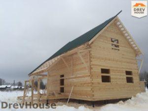 Строительство дома из бруса в поселке Морозовка   фаза 8
