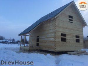 Строительство дома из бруса в поселке Морозовка   фаза 9