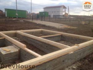 Строительство дома из бруса в поселке Пограничный   фаза 1