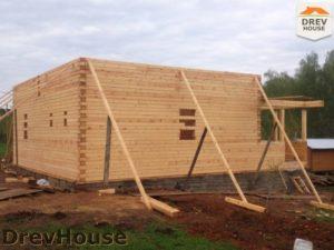 Строительство дома из бруса в поселке Пограничный   фаза 10