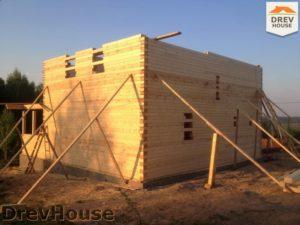 Строительство дома из бруса в поселке Пограничный   фаза 11