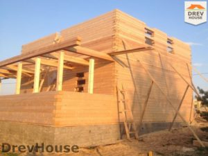 Строительство дома из бруса в поселке Пограничный   фаза 12