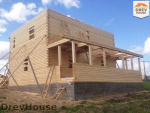 Строительство дома из бруса в поселке Пограничный   фаза 13