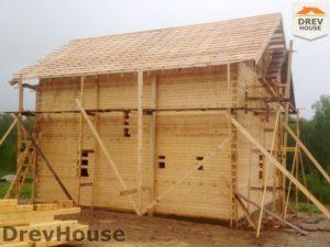 Строительство дома из бруса в поселке Пограничный   фаза 14