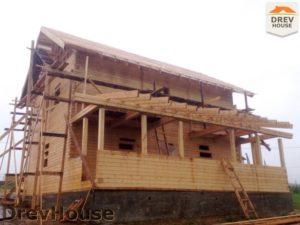 Строительство дома из бруса в поселке Пограничный   фаза 15