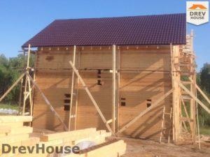 Строительство дома из бруса в поселке Пограничный   фаза 16