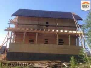 Строительство дома из бруса в поселке Пограничный   фаза 17