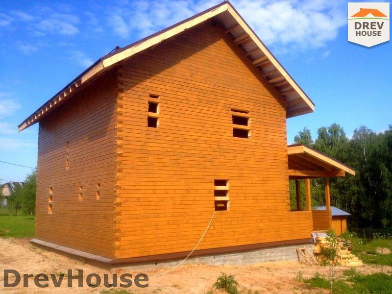 Фоторепортаж строительства дома из бруса в пос. Пограничный, Серпуховской р-н., МО