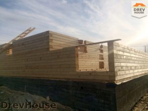 Строительство дома из бруса в поселке Пограничный   фаза 2