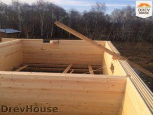 Строительство дома из бруса в поселке Пограничный   фаза 3