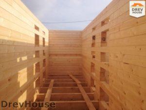 Строительство дома из бруса в поселке Пограничный   фаза 4
