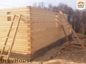Строительство дома из бруса в поселке Пограничный   фаза 5