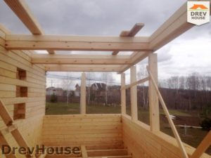 Строительство дома из бруса в поселке Пограничный   фаза 6