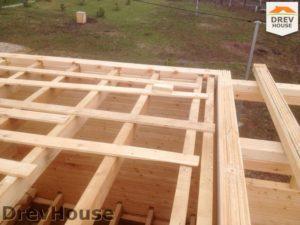 Строительство дома из бруса в поселке Пограничный   фаза 7