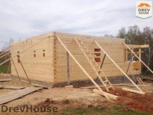 Строительство дома из бруса в поселке Пограничный   фаза 8