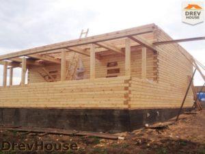 Строительство дома из бруса в поселке Пограничный   фаза 9