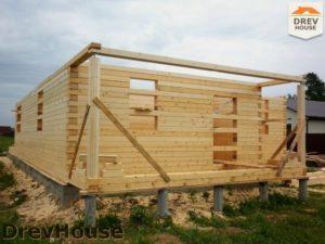 Строительство дома из бруса в поселке Жилево   фаза 1